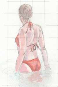 watercolor-red-bikini
