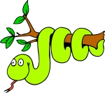 cartoon-python-green