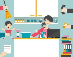 Busy Multitask Woman.