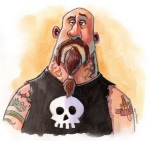 Biker dude cartoon