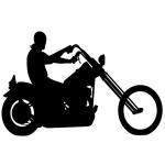 biker due silhouette