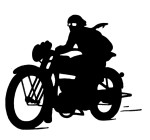 motorcycle chaser silhouette